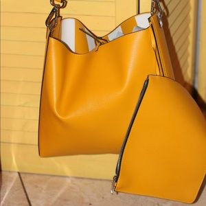 Yellow Zara bag